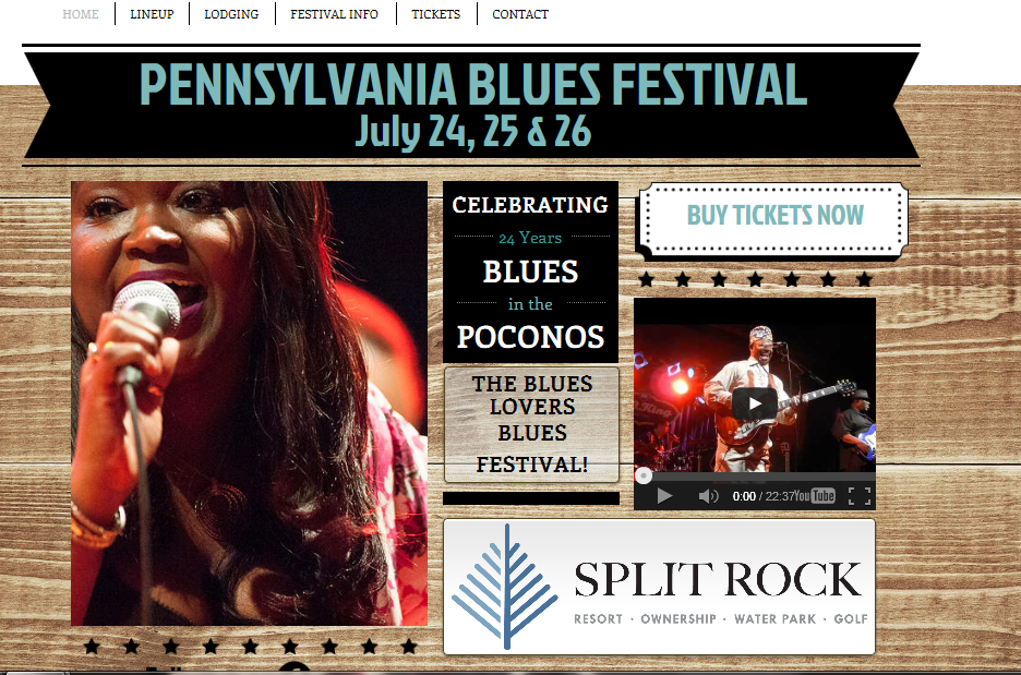 Pocono Blues Festival - Lake Harmony - Comin' Back in July!