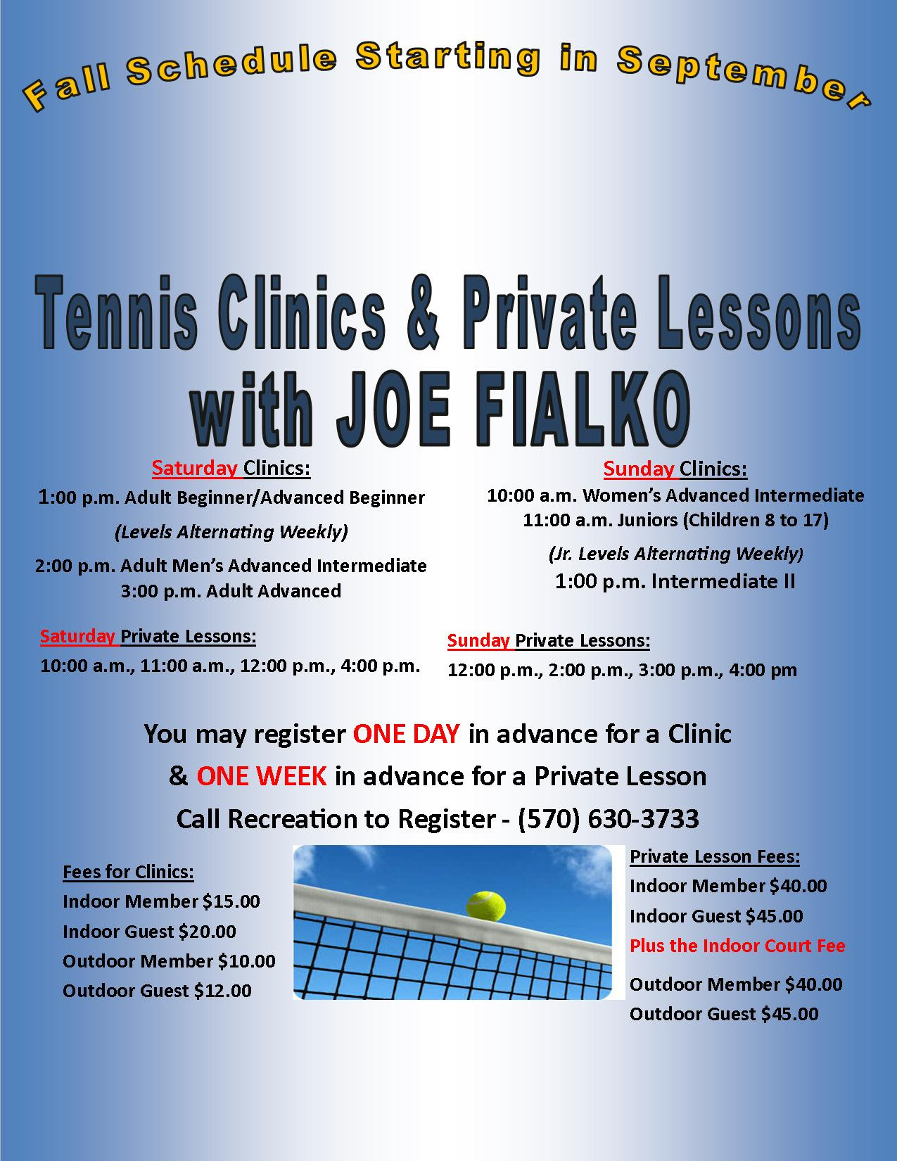 Hideout Tennis Clinics