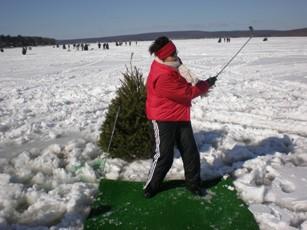 Ice tee golf