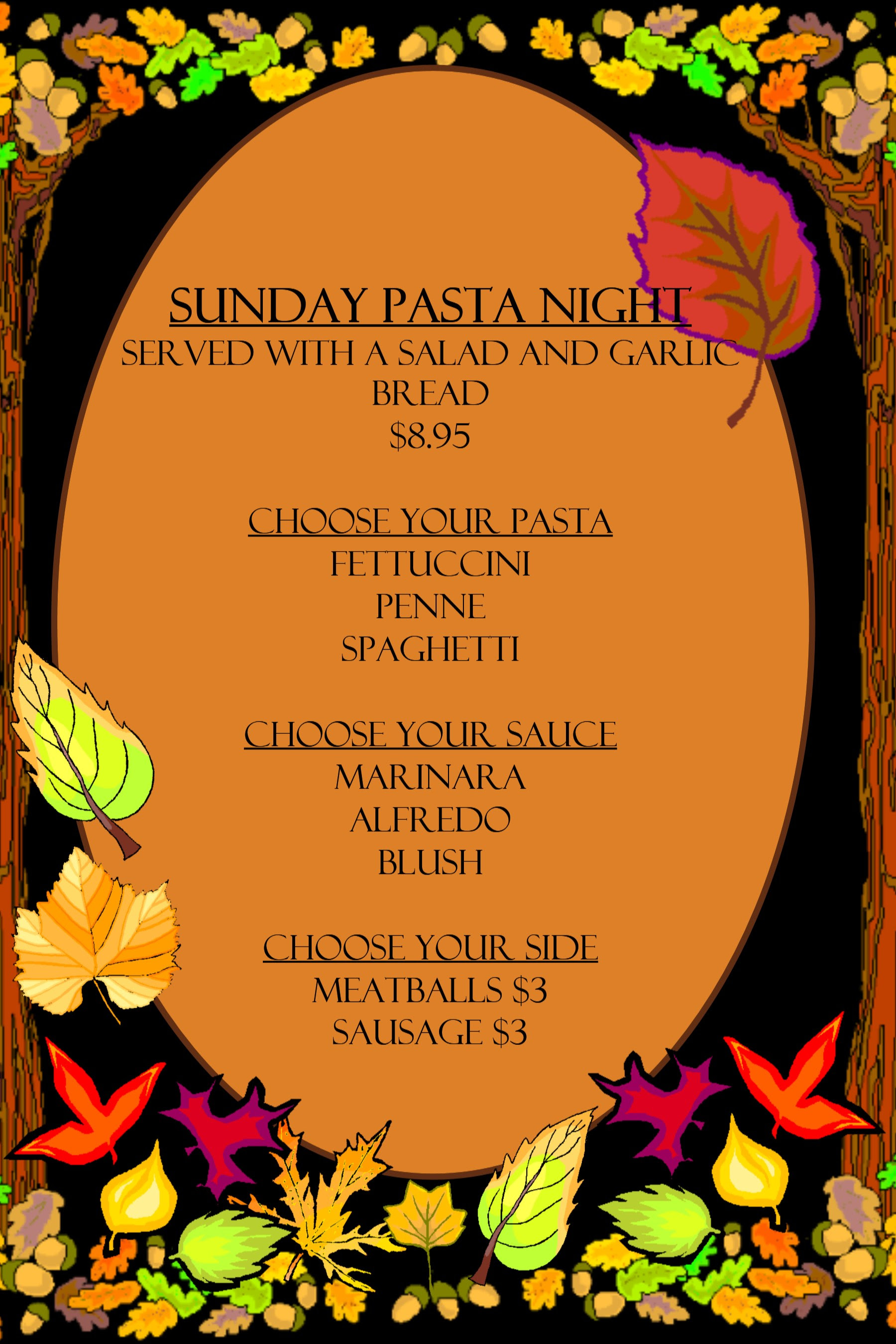 Pasta Night At The Hideout