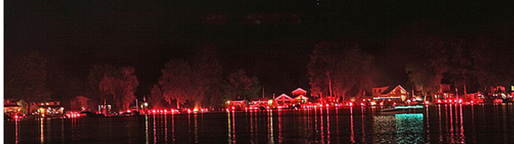 the annual ring fire celebration on conesus lake