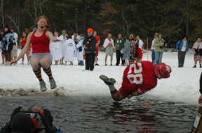 3rd Annual Tundra Plunge on Big St. Germain Lake