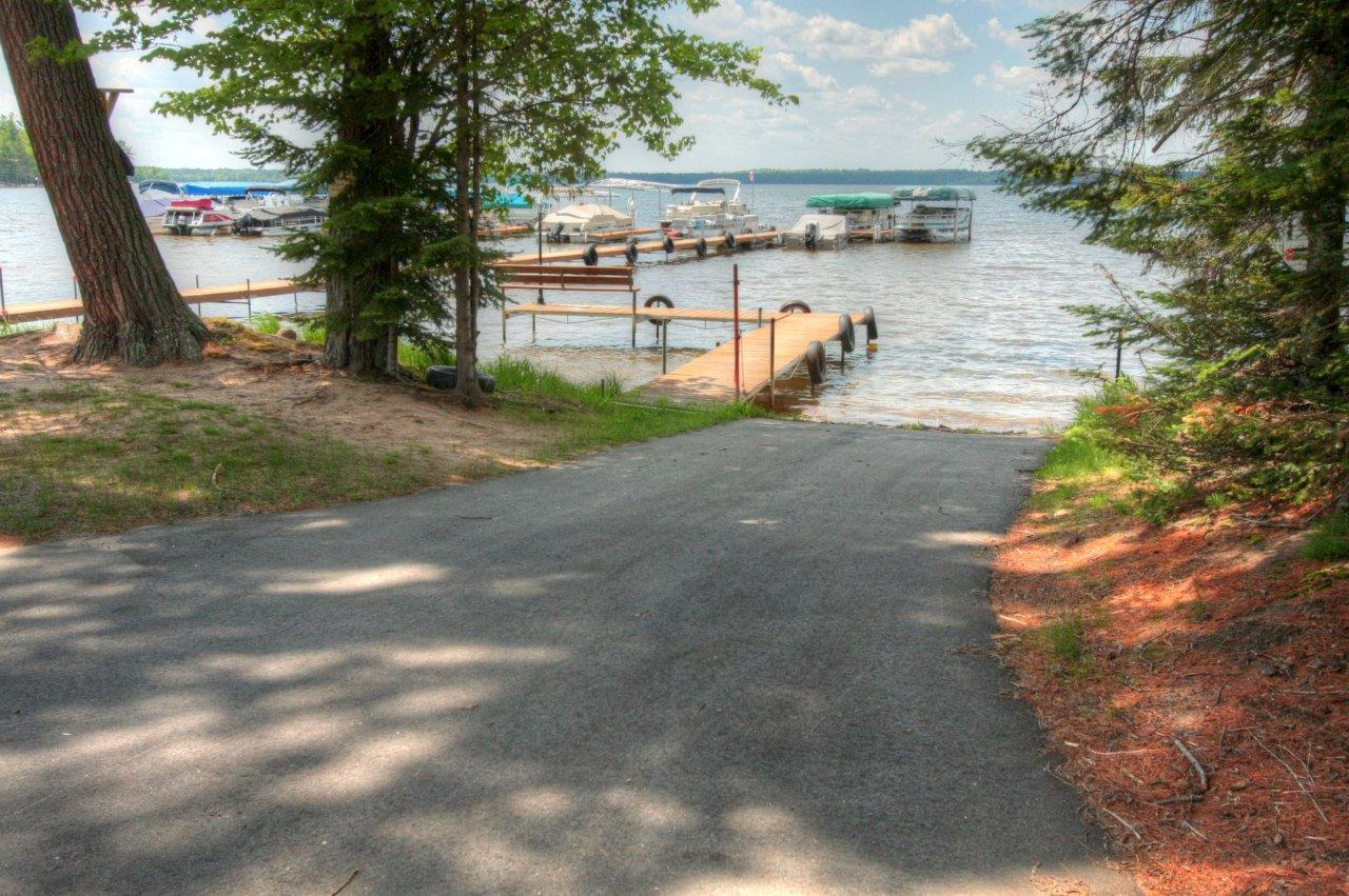 Private, Paved Boat Landing at Forest Downs Subdivision, Big St Germain Lake