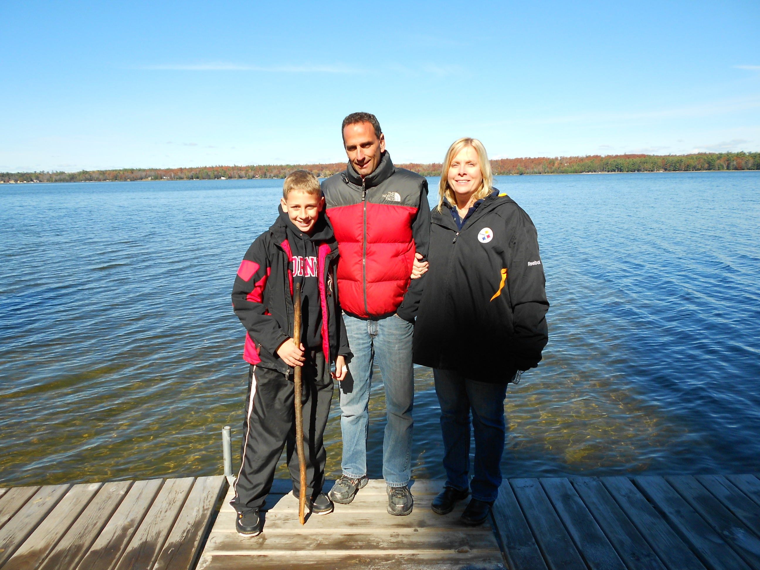 Please welcome Denise and Chuck - new St Germain cabin owners!