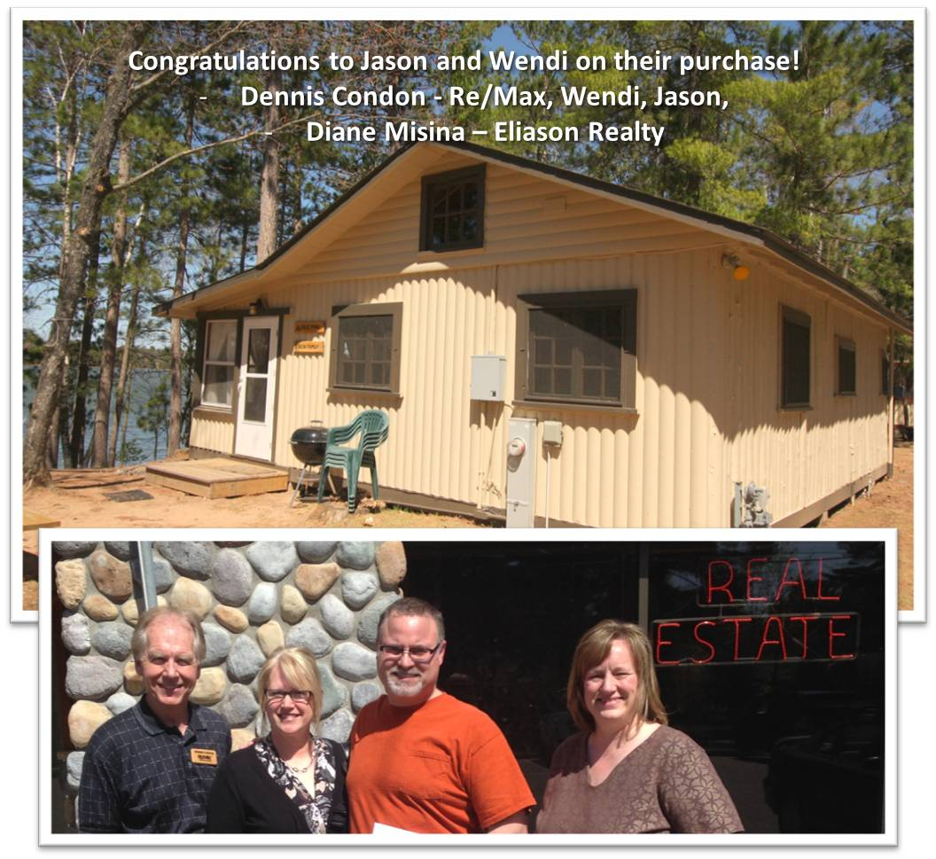 Congratulations to new Lt St Germain Lake Cabin Owners!