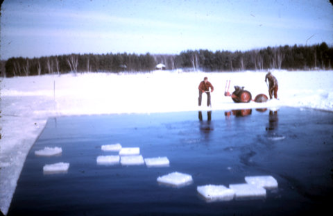 Cutting lake ice - Eliason