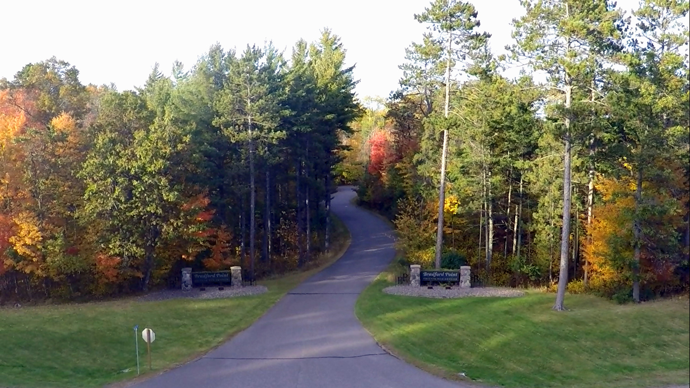 Entrance to Bradford Point in St Germain, WI