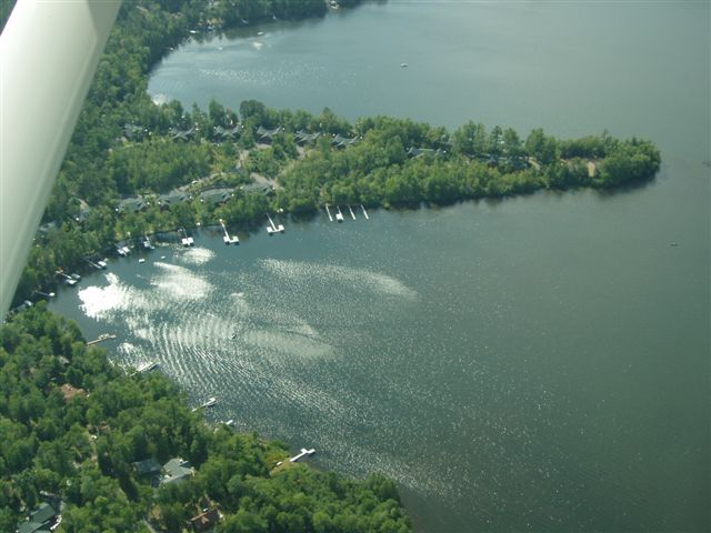 Bradford Point Condominium Aerial - Big St Germain Lake - by Jill and Frank Fiorenza