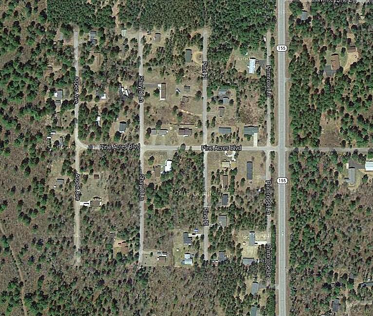 Pine Acres Estates Map by Google, St Germain-Sayner-WI