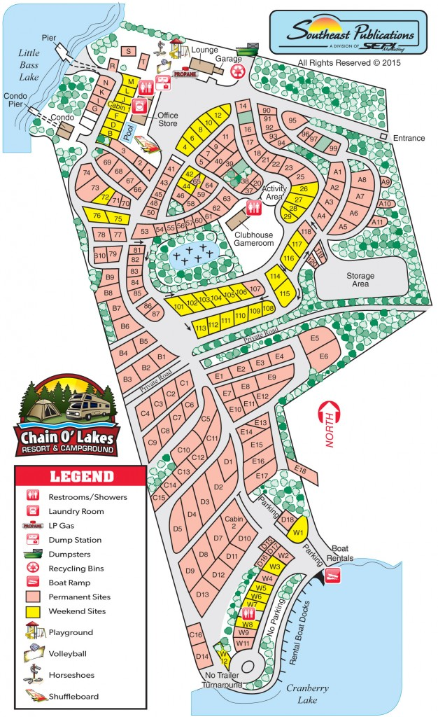 chain o lakes campground map