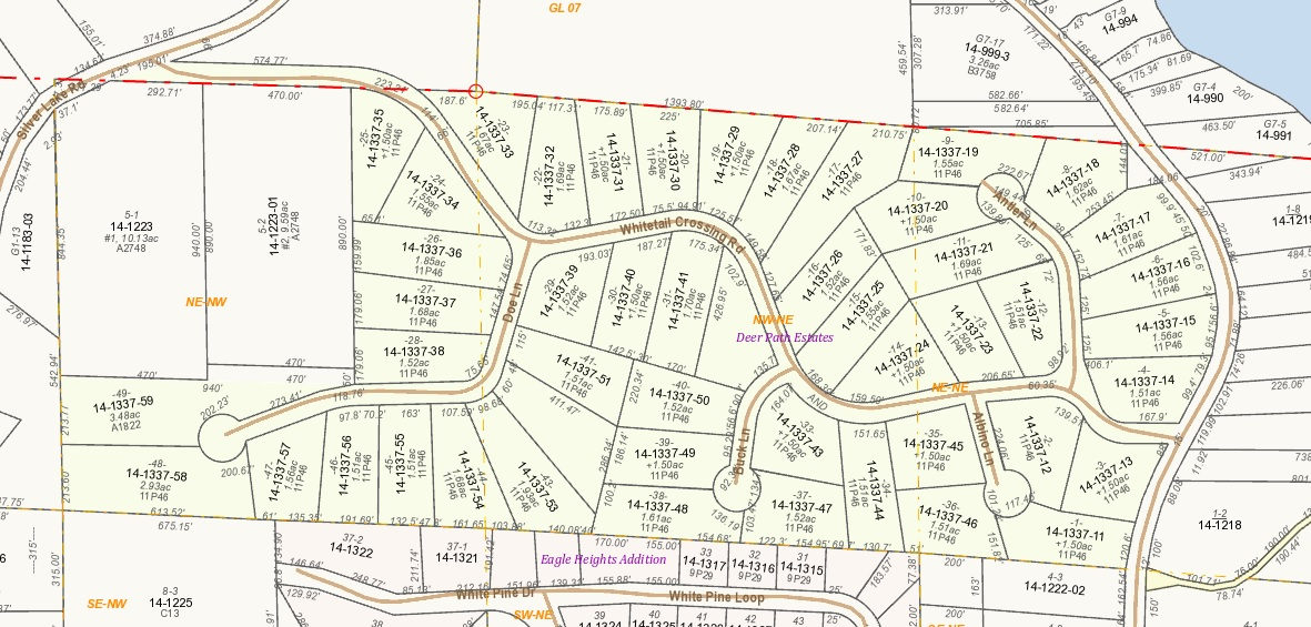 Deer Path Estates - GIS Parcel Map