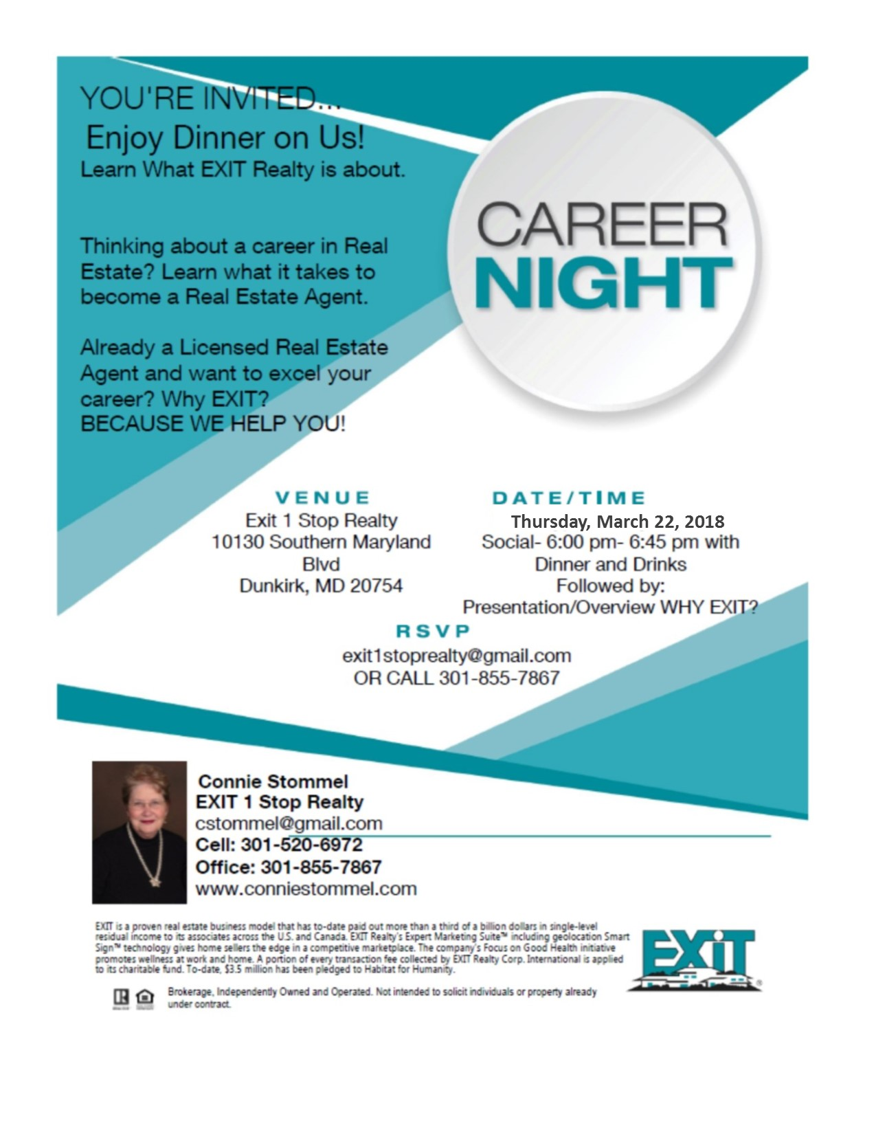 Career Night.. Thursday, March 22, 2018