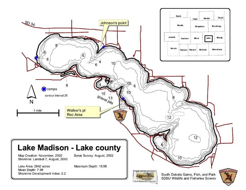 Map of Lake Madison- Lake County