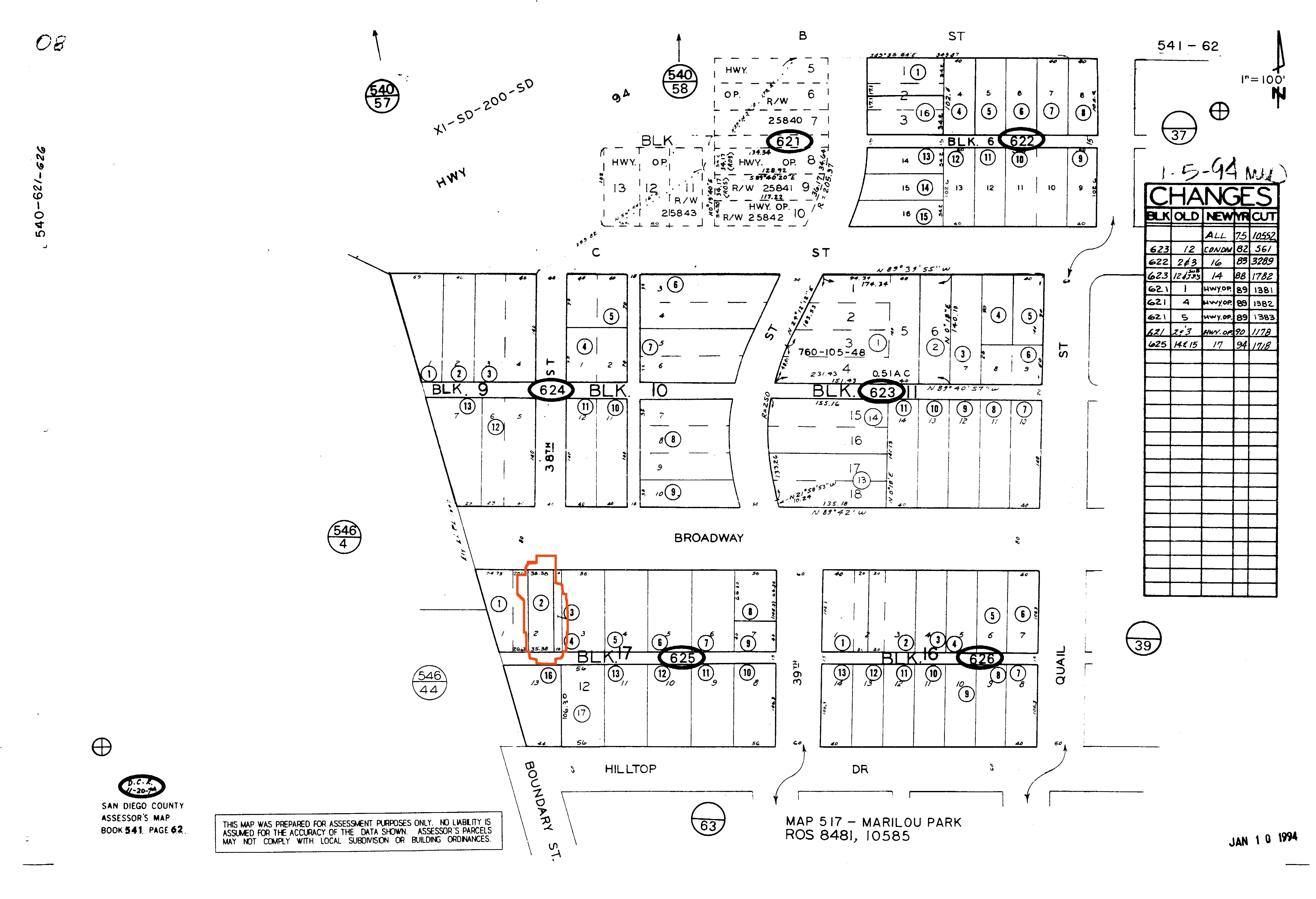 3791 Broadway San Diego - Vacant buildable Lot