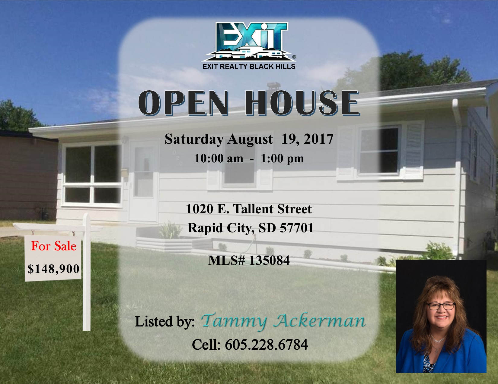 OPEN HOUSE Saturday August 19, 2017