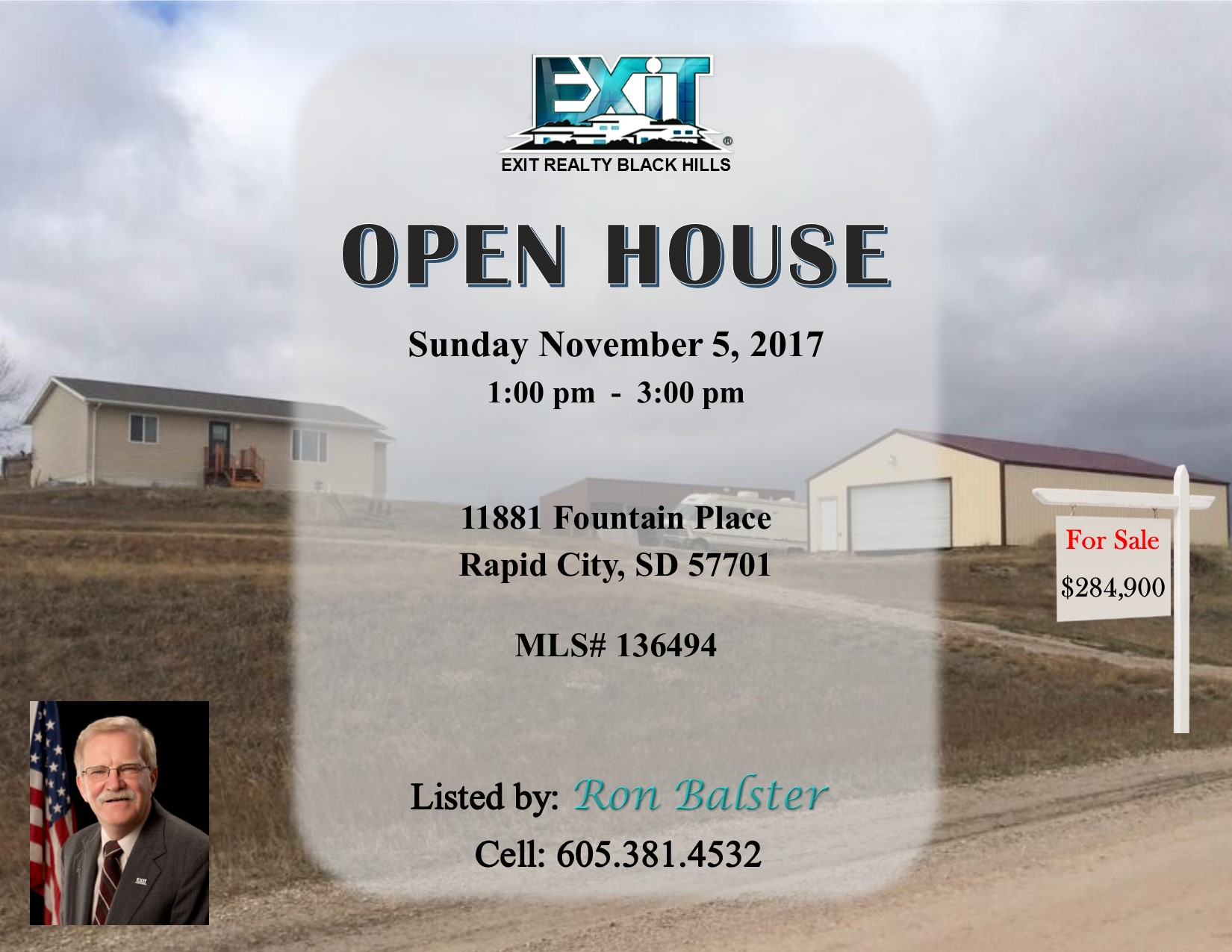 Open House Sunday November 5, 2017