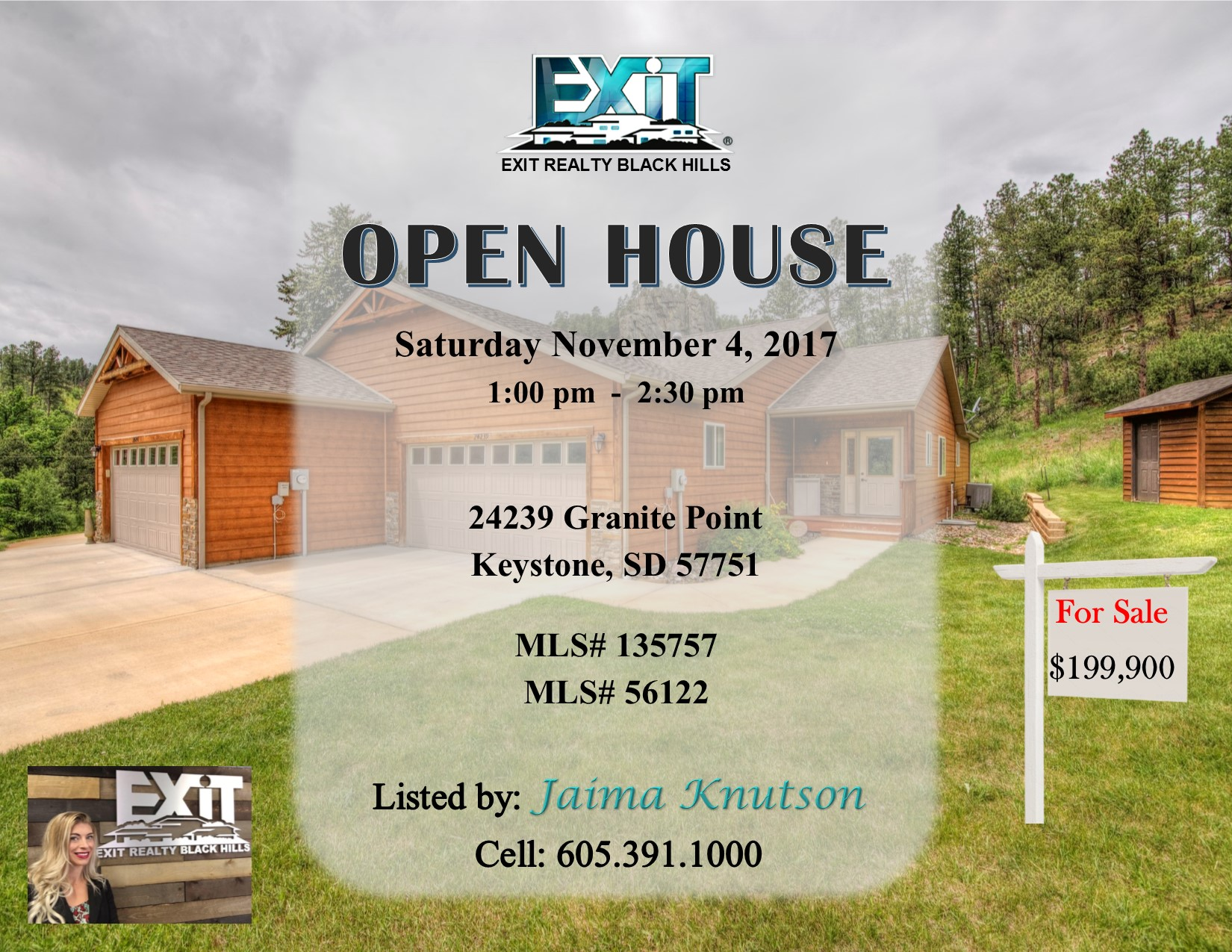 Open House Saturday November 4, 2017