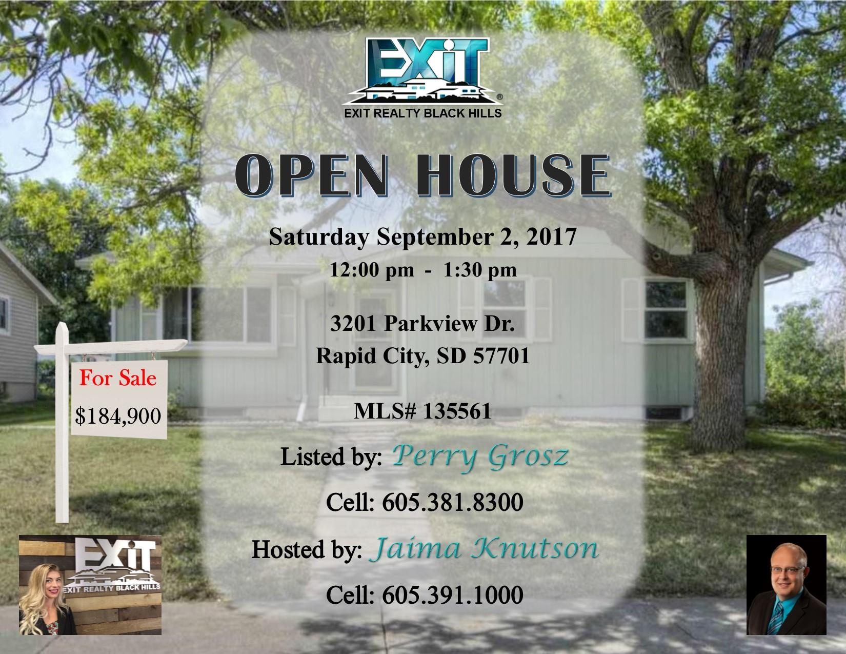 Open House for September 2nd - 3rd