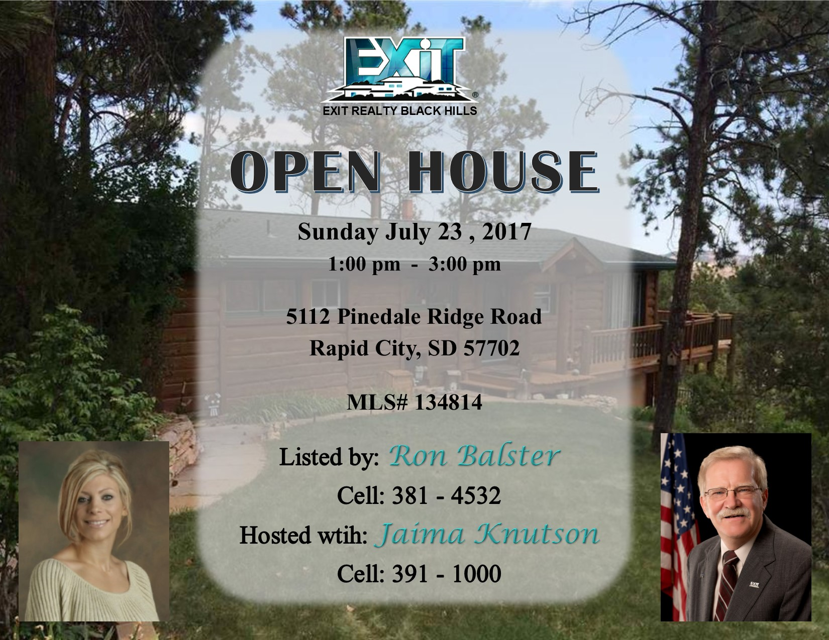 OPEN HOUSE for July 23, 2017