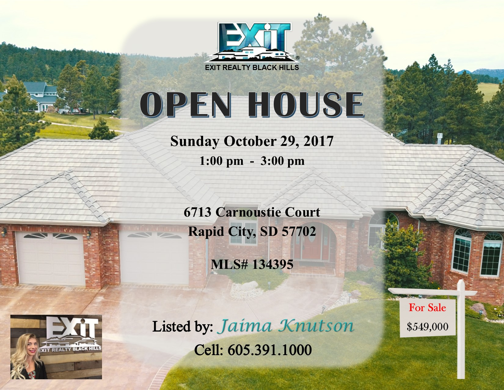 OPEN HOUSE October 29, 2017