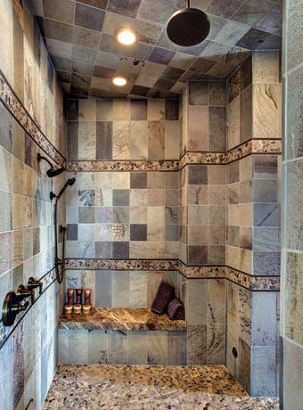 35 Showers with Interesting Tilework