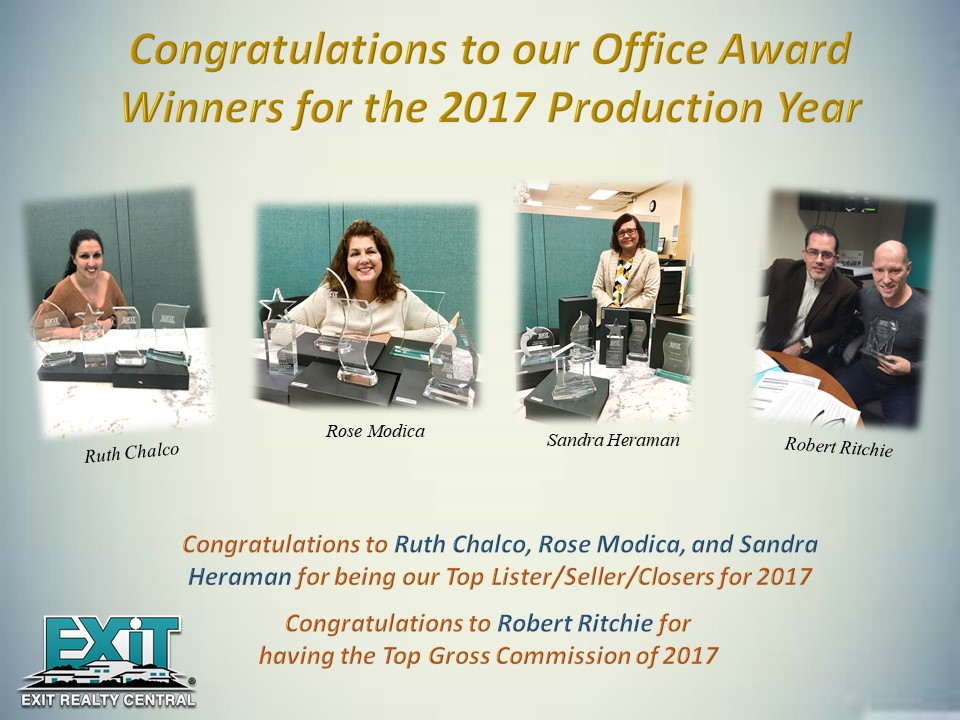 Congratulations to Our Office Award Winners for the 2017 Production Year!