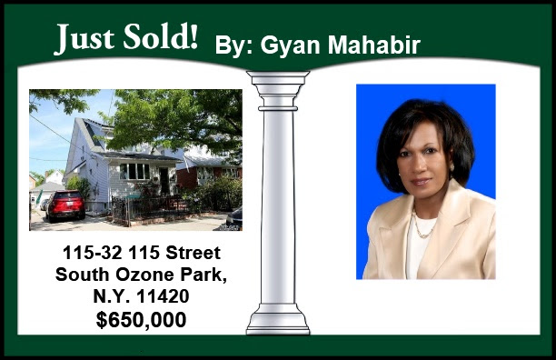 Just Sold by Gyan in South Ozone Park!