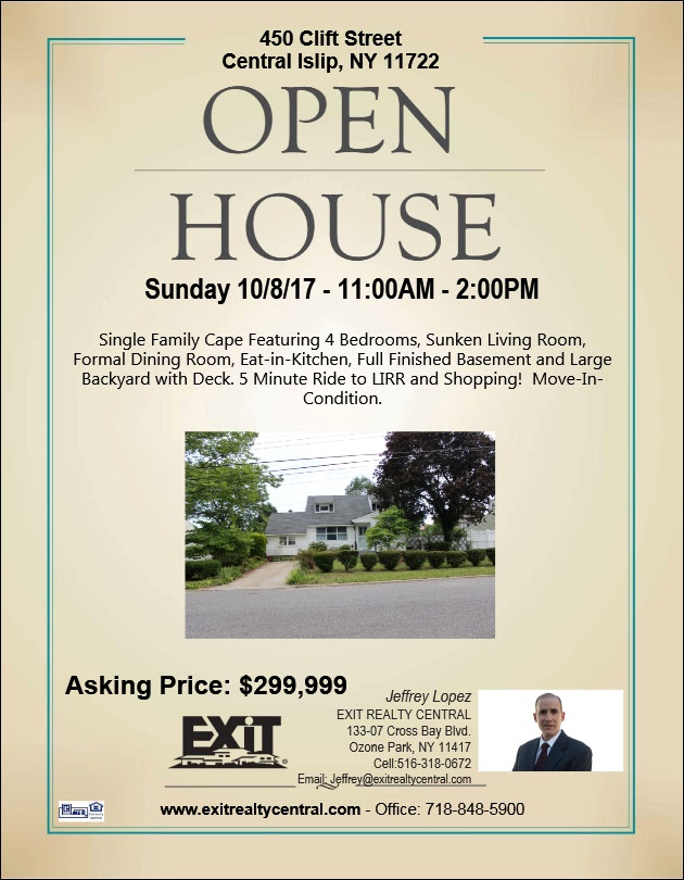 Open House This Saturday in Central Islip!