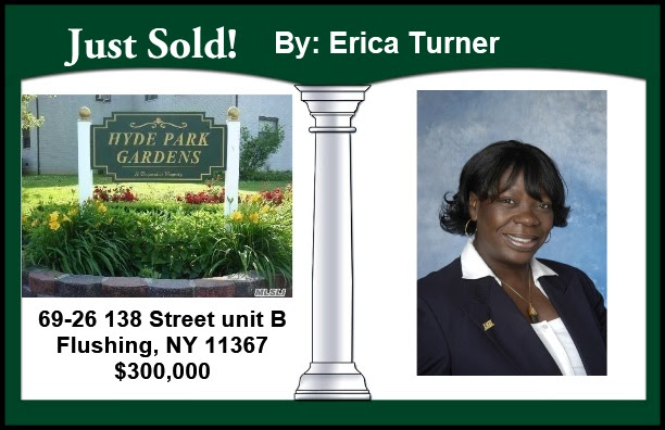 Just Sold by Erica Turner in Flushing!