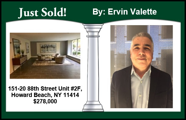 Just Sold by Ervin Valette in Howard Beach!