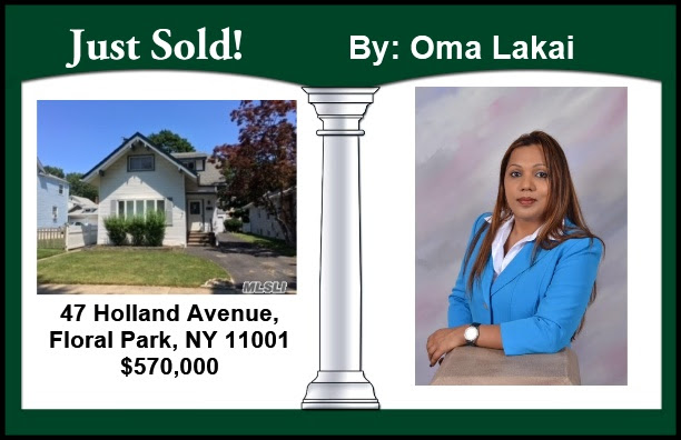 Just Sold by Oma in Floral Park!