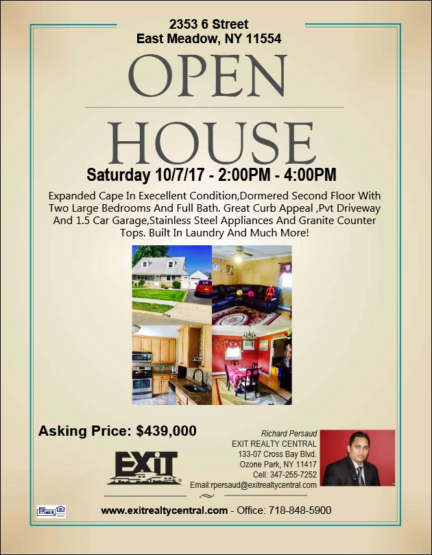 Open House in East Meadow This Saturday!