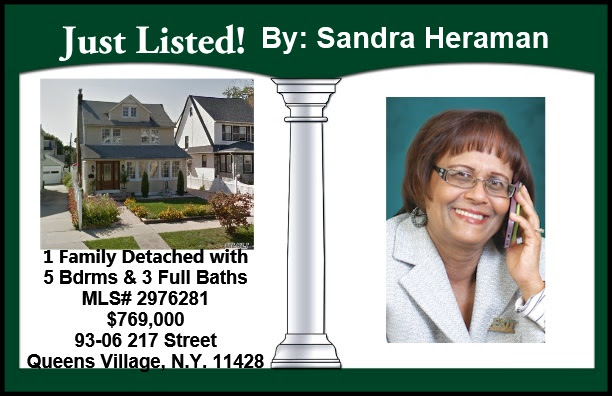 Just Listed by Sandra in Valley Stream & Queens Village!