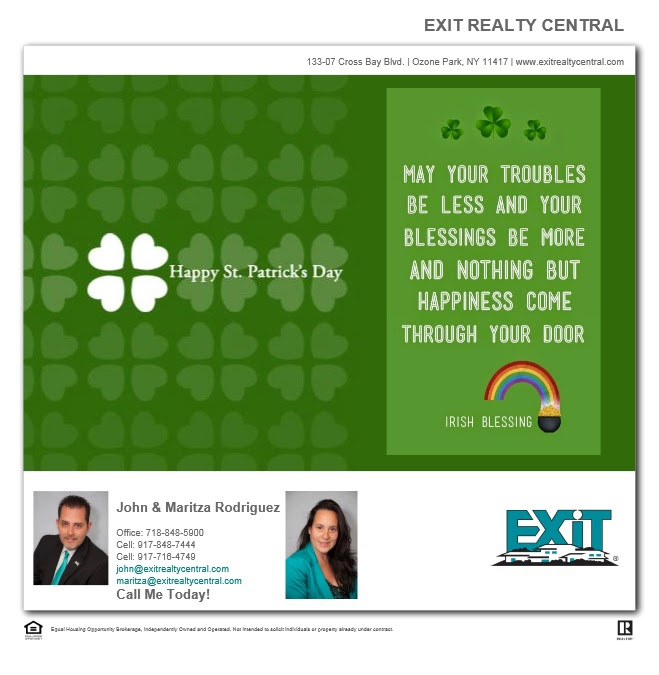 Happy St. Patrick's Day from us at Exit Realty Central. 🍀