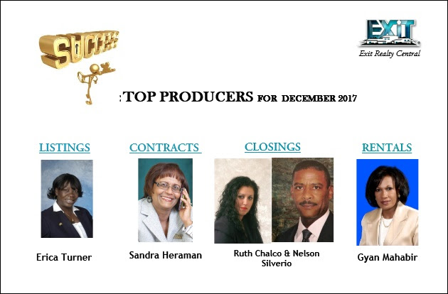 Top Producers for December 2017