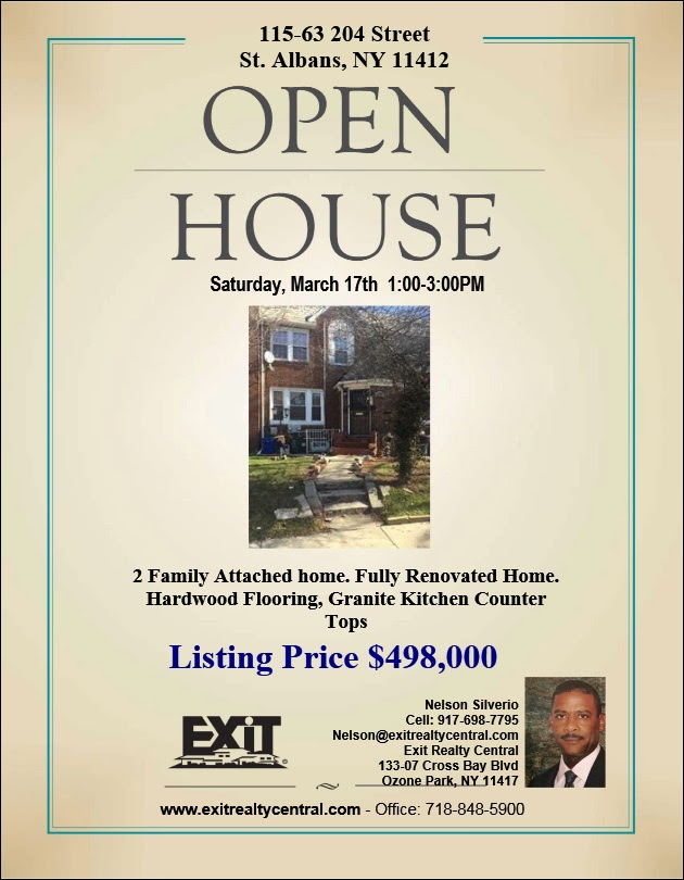 Open House hosted by Nelson Silverio! 3/17/2018 🏡