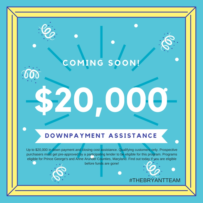 Special Announcement!! PG County is getting a Downpayment Assistance Program