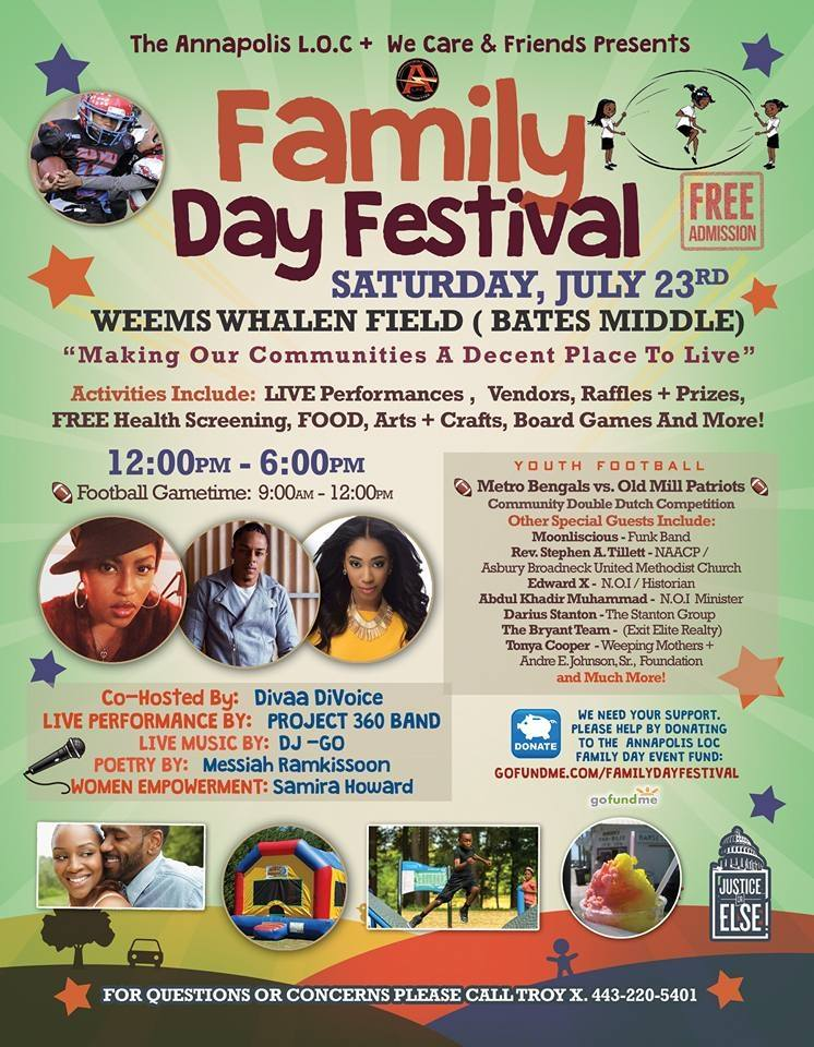 Join The Bryant Team for Family Day in Annapolis 7/23!