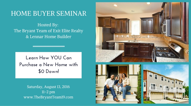 The Bryant Team's August Home Buyer Education Seminar