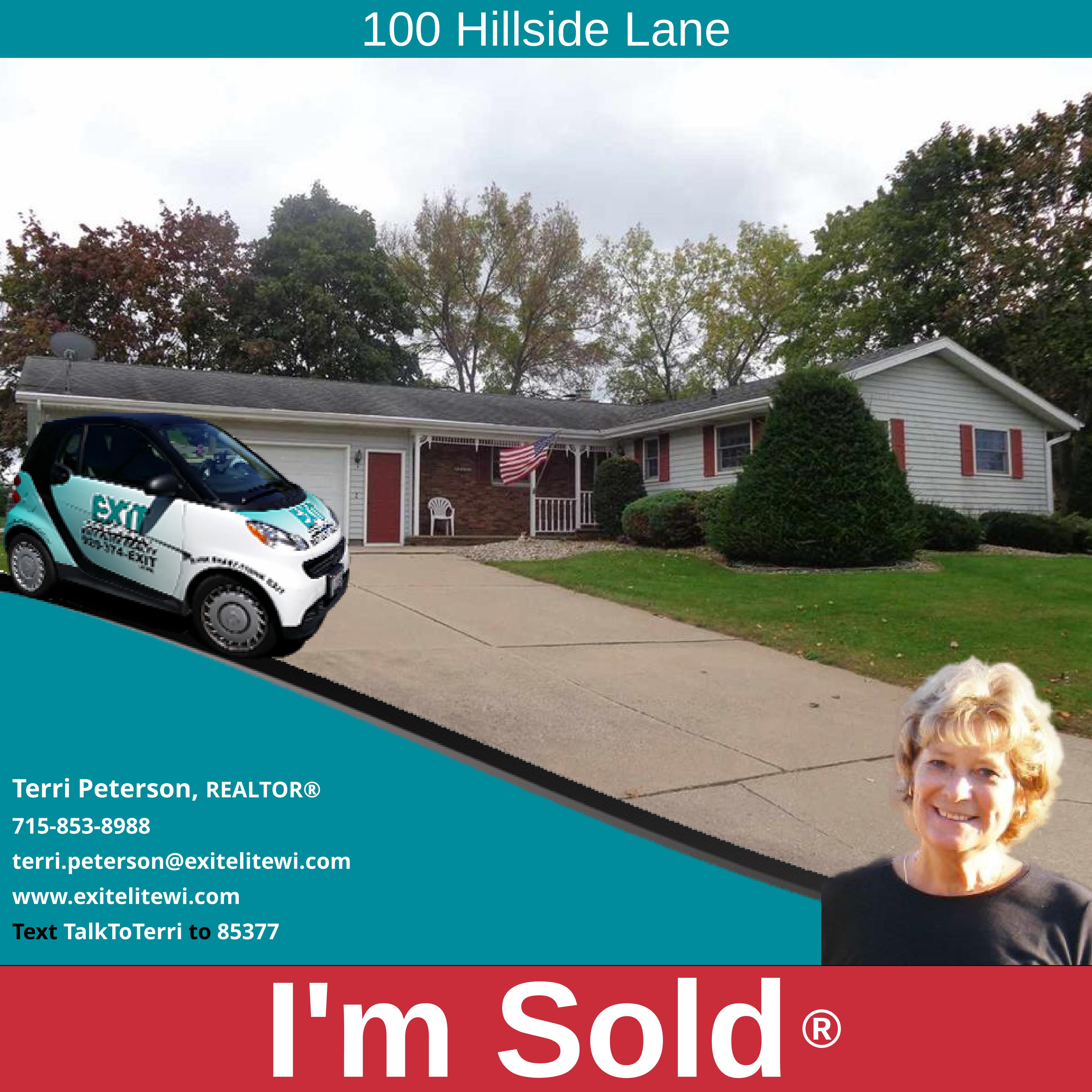 Just Sold! 100 Hillside Ln. Shawano, WI