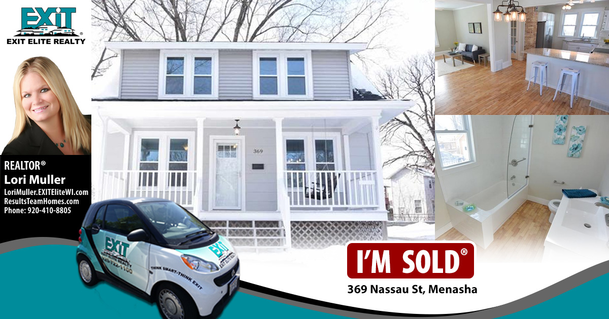 Just Sold! 369 Nassau St, Menasha