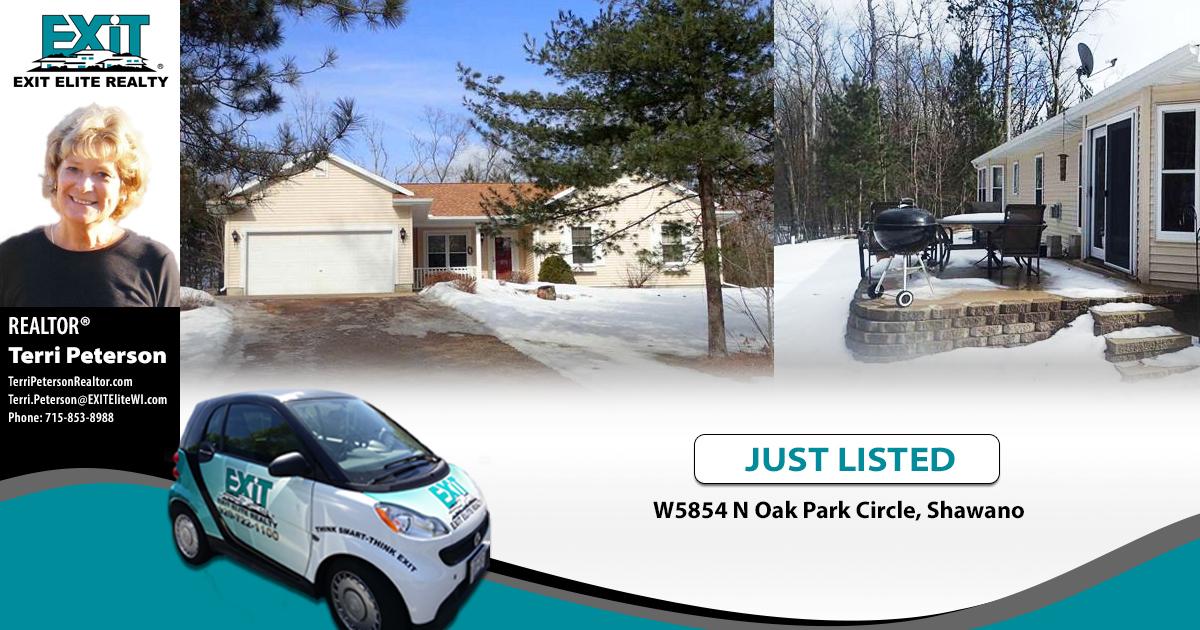 Just Listed! W5854 N Oak Park Circle, Shawano
