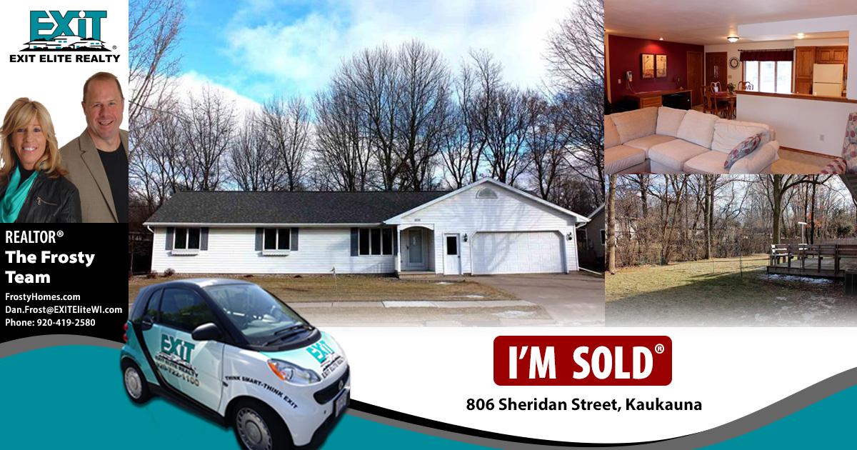Just Sold! 806 Sheridan Street, Kaukauna