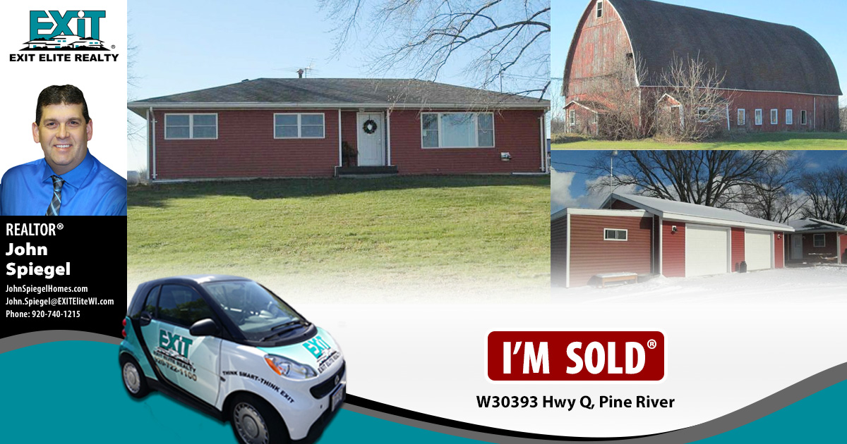 Just Sold! W3093 Hwy Q, Pine River