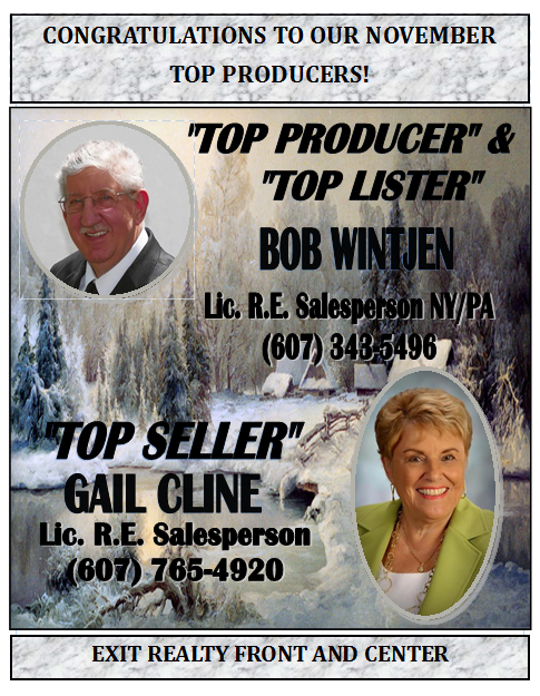 Congratulations to Our November Top Producers!
