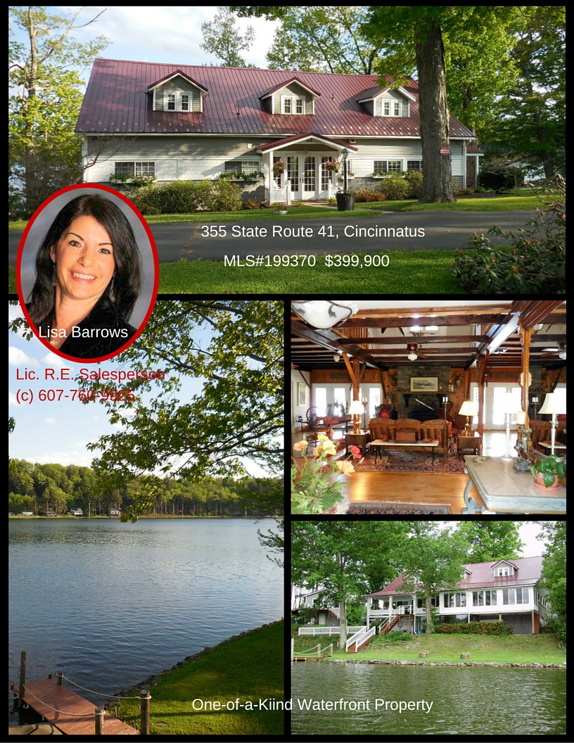 355 Route 41 Lake Front Home for Sale