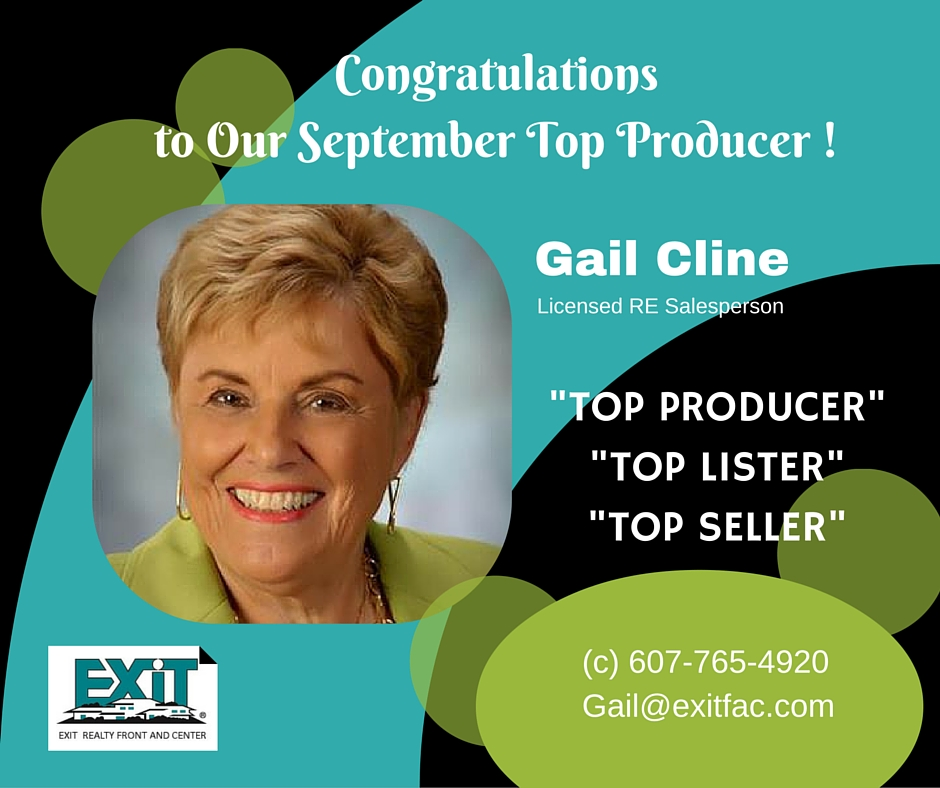 congratulatory ad for female agent gail cline