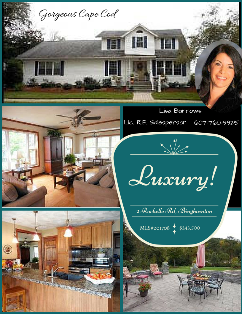 luxury homes real estate flyer for white cape cod