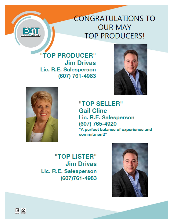 Congratulations to our May Top Producers!