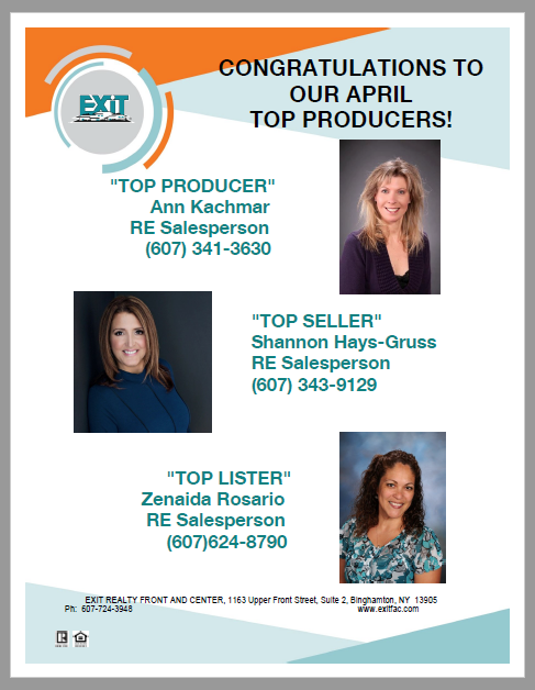 Congratulations to Our April Top Producers!
